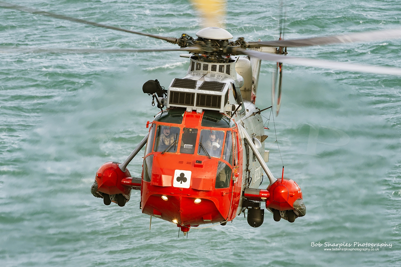 771 Squadron Sea King MK5 Search and Rescue Helicopter based at RNAS Culdrose
