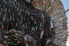 Knife Angel  sculpture on display at the British Iron Work Centre tourist attraction