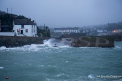Stormy sea's hit Porthleven Harbour on Christmas Eve