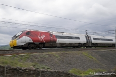 Virgin Class 390 Pendolino Train (390-006) on the West Coast Line at Tebay