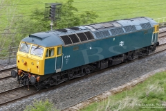 Locomotive, Class 47, 47614 of Locomotive Services Limited, near Penrith,