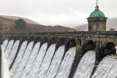 Craig Goch Dam in the Elan Valley