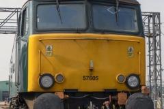 "Class 57 diesel electric locomotive 57605 , ""Totnes Castle"""