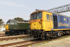 "Diesel 57604 ""Pendennis Castle"" and GB Rail Freight engine"