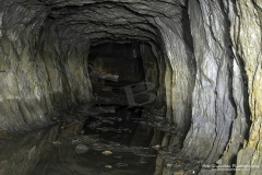 Minllyn Slate Mine/Quarry at Dinas Mawddwy, old tunnels which provided access for the workers and narrow gauge lines for slate wagons