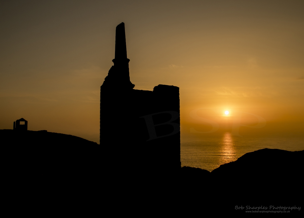 Wheal Owles Mine at Botallack with stunning sunset